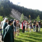 Prayer in the mountains