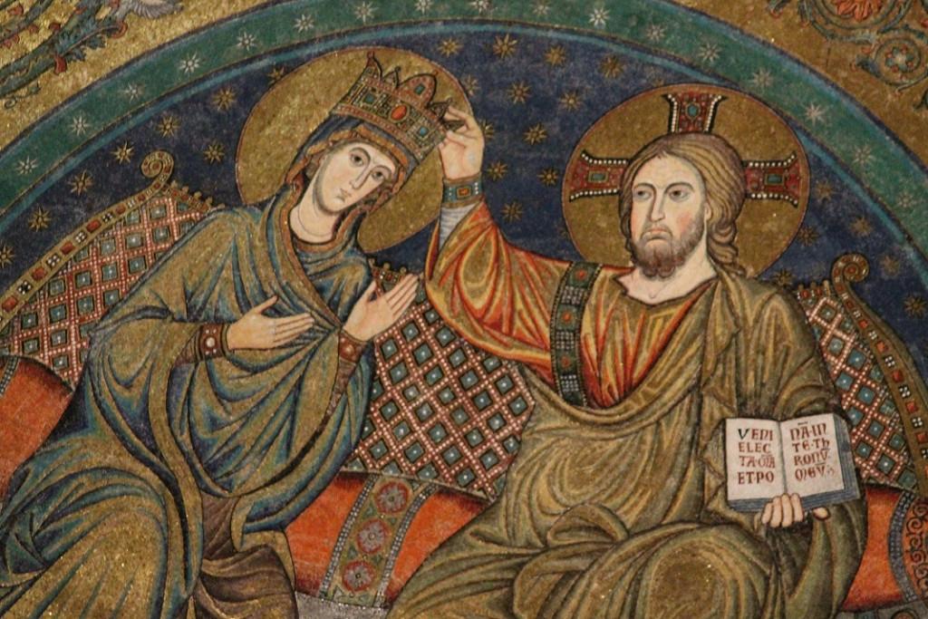 Santa Maria Maggiore Coronation of the Madonna - detail RED